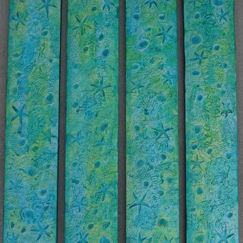 Large Wood Wall Art -  Textured Acrylic Paintings - Nautical Art - Nautical Painting - Nautical Decor Beach - Unique Abstract Paintings