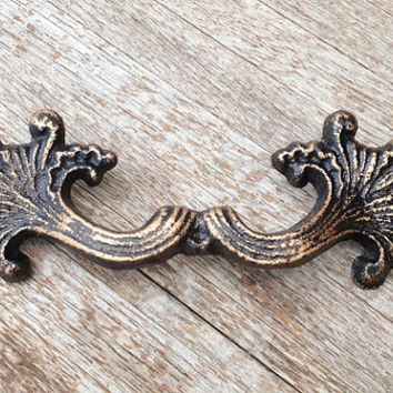 Drawer Pull, Cast Iron, Victorian, Antique Inspired