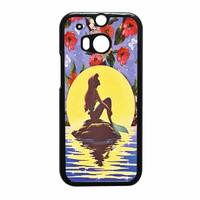 Ariel Little Mermaid Disney Flower Vintage HTC One M8 Case