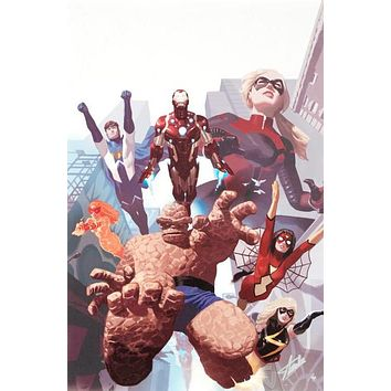 I Am An Avenger #4 - Limited Edition Giclee on Canvas by Daniel Acuna and Marvel Comics and Stan Lee Signed