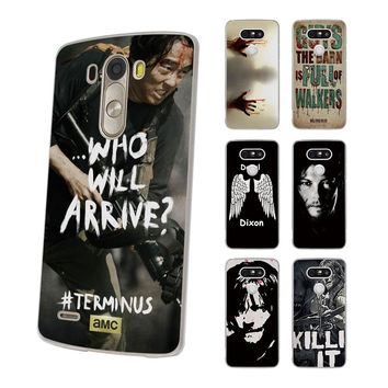 TV SHOW The Walking Dead Daryl Dixon Zombie Style hard Thin clear Mobile phone shell Case for LG G6 G5 G4 K8 2017 K10 K5 V10 V20