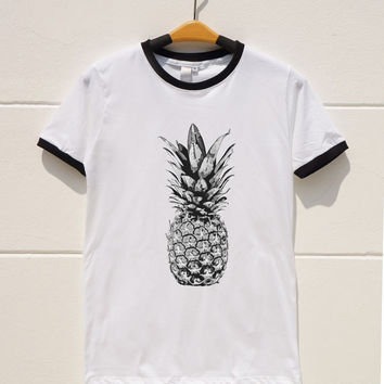 S M L XL -- Pineapple Shirts Cute Tshirts from monopoko on Etsy