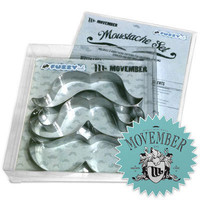 Cookie Cutters Movember Mustaches  Great Bakery Gift by FuzzyInk