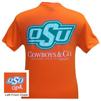 Oklahoma State Cowboys and Co Delta Girlie Bright T Shirt