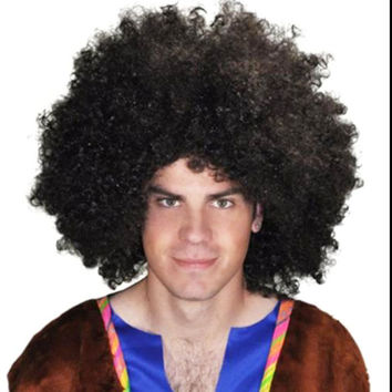Cosplay Wig Afro Wigs Halloween Party Colorful Christmas Cosplay Hairs Clown Funny synthetic Wig Brazil football fans wigs YH603