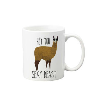 Llama Mug - Hot Chocolate Mug - Coffee Mug - Birthday Present - Valentine's Day Gift