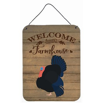 Norfolk Black Turkey Welcome Wall or Door Hanging Prints CK6929DS1216