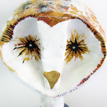 Owl - Paper Mache -  Animal Sculpture