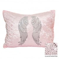 Wake Up Frankie - Heavenly Standard Sham (Angel Wings) : Teen Bedding, Pink Bedding, Dorm Bedding, Teen Comforters