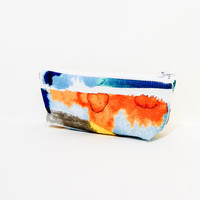 Small Pouch Small Coin Purse Zipper Pouch Abstract Orange Blue Yellow Pattern