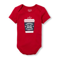 Baby Boys Short Sleeve 'Somebody Get My Mom a Coffee' Little Talker Bodysuit | The Children's Place