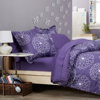 Pinzon 7-Piece Bed In A Bag - Full/Queen, Purple Floral