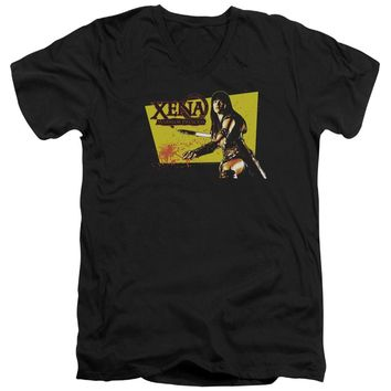 Xena - Cut Up Short Sleeve Adult V Neck Shirt Officially Licensed T-Shirt