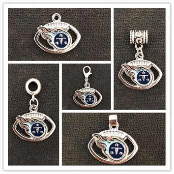 America Football Sports Tennessee Titans Charms Dangle Charms Floating Charm DIY Jewelry Bracelet Necklace Pendant 20pcs/lot