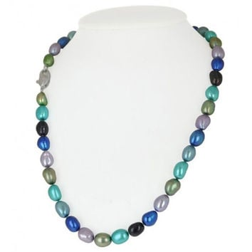 """Honora """"Peacock"""" Baroque Freshwater Cultured Pearl Necklace"""