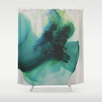 Anahata (Heart Chakra) Shower Curtain by duckyb