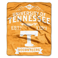 "Tennessee College """"Retro"""" 50x60 Raschel Throw"