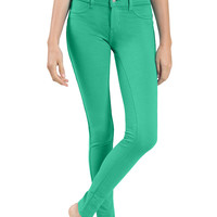 LE3NO Womens Color Skinny Ponte Pants with Stretch