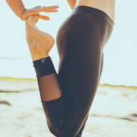 Matte Black Mesh Surf Legging