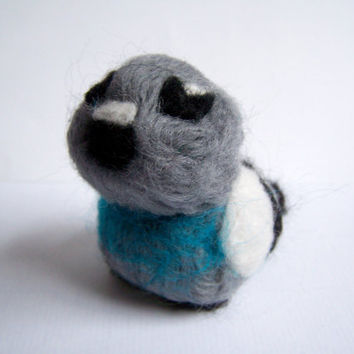 Needle Felted Pigeon Miniature London Bird by Knittynudo on Etsy