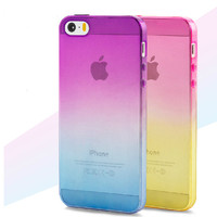 Gradient Clear Back Cover For Apple Iphone 5 5S