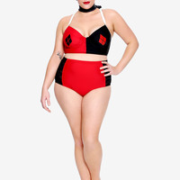 DC Comics Harley Quinn Swim Top Plus Size