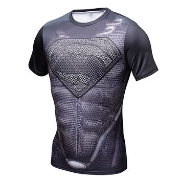 Captain America T-shirt 3 Compression of fitness marvel the avengers comic book movie hero men t shirts tops geek tee