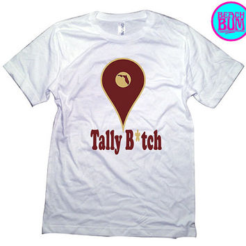 Tally FSU Colors Unisex Shirt - White 3001