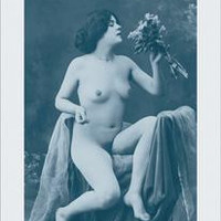 Nude with a Bouquet: Fine art canvas print (12 x 18)