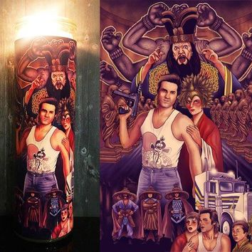 Big Trouble in Little China,  Jack Burton, Kurt Russel, john carpenter, Pork Chop Express, Home Decor, Scented  Candle, Prayer Candle,