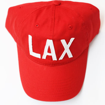 Aviate Ball Cap LAX {Red}