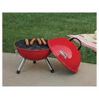 """Chefmate 14"""" Red Charcoal Portable Grill"""
