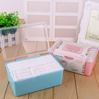 Beauty Box Set 120-pcs Double Sided Cotton Cotton Pads = 4849735556
