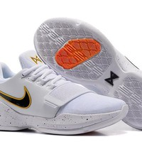 Beauty Ticks Nike Zoom Pg 1 Ep White/black Basketball Shoes Us 7-12