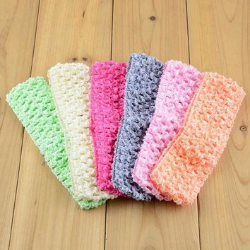 ONETOW Sweet Crochet  Elastic girl Headband Fashion Hair Accessories Free Shipping 38 color selectable 300pcs/lot  FD099