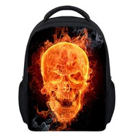 Nopersonality 2017 New Cool Small Children School Bags for Boys Backpack 3D Skull Back pack for Kids Girls Star Bags for Child