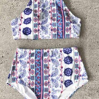 Cupshe Dreamlike World Print Bikini Set