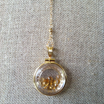Citrine Shaker Necklace