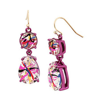 HARLEM SHUFFLE STONE EARRINGS: Betsey Johnson