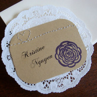 Escort Cards Purple Wedding Retro by CraftColorfully on Etsy