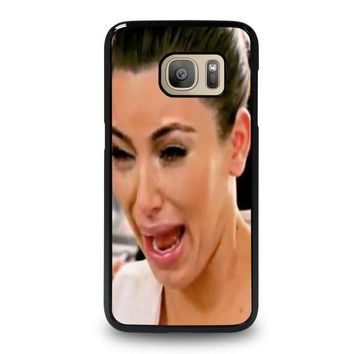 kim kardashian ugly crying face samsung galaxy s7 case cover  number 1