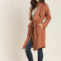 Audra Rust Belted Trench Coat