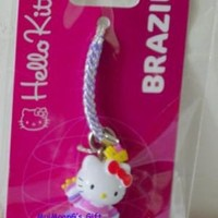 Sanrio Brazil Hello Kitty Cell phone Charm Cellular NEW