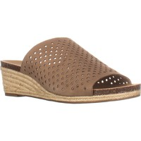 Lucky Brand Jemya Open Toe Slip On Sandals, Sesame, 5 US