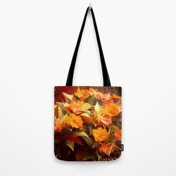 Fall Floral Tote Bag by Theresa Campbell D'August Art