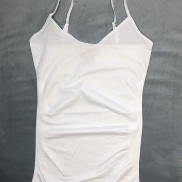 Paige Seamless Basic Fitted Tank Top : White