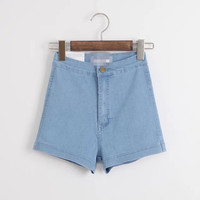 High Rise Denim Stretch Casual Pants Women's Fashion Shorts [6034223489]