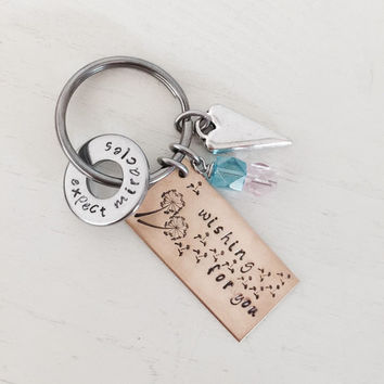 Infertility Keychain, Adoption, Foster Mom, Surrogacy, Someday Mommy, Wishing for You, Baby Dust Wishes, Pregnancy, TTC