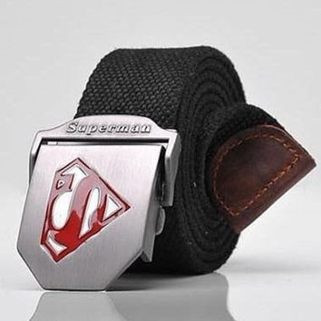golegendy Superman Men's Belts Fashion Casual men belt buckle canvas belt for men = 1946687812