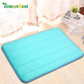 LemonBest Bathroom carpet Bath Mat Super Magic Slip-Resistant Pad Room Oval Carpet Floor Mat 40X60CM Soft Faux Sheepskin Rug Mat